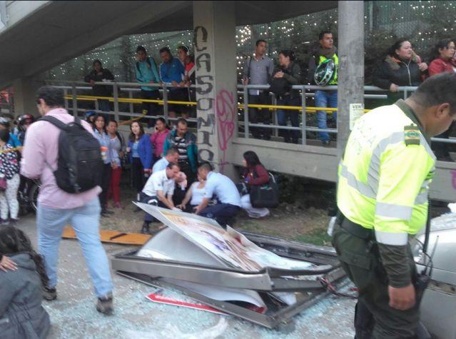 Accidente, foto vía Bomberos