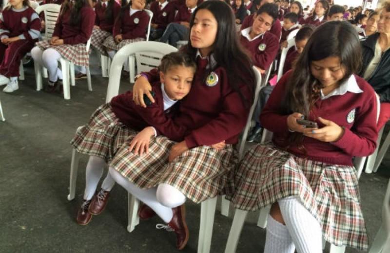 Convivencia escolar, foto vía Alcaldía de Bogotá