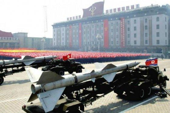 Corea del Norte podría estar preparando el lanzamiento de un misil balístico, foto vía Bloomberg News