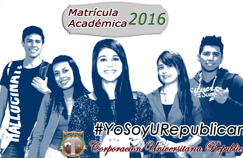 Inscripción de matriculas 2016