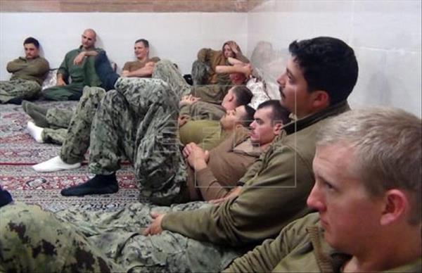 Marines de EEUU, foto vía Cuerpo de los Guardianes de la Revolución de Irán (IRGC, por su sigls en inglés) - EFE