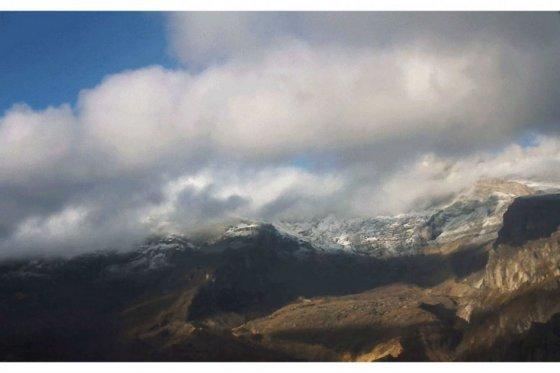 Nevado del Ruíz, foto vía Servicio Geológico Colombiano