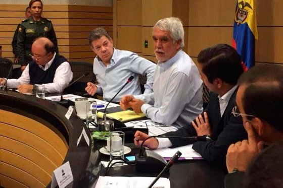 Reunión Seguridad Presidencia y Alcaldía de Bogotá, foto vía web Alcaldía de Bogotá