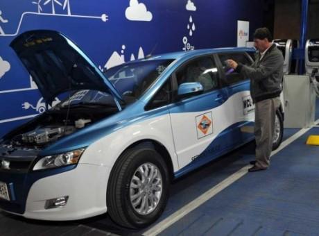 Taxis eléctricos, foto vía El Espectador
