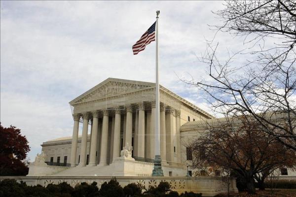 Vista exterior del Tribunal Supremo en Washington DC, Estados Unidos foto vía EFE