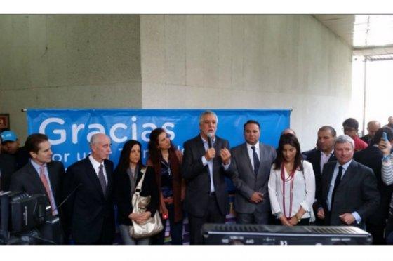 Enrique Peñalosa hizo anuncios para mejorar el transporte público en la estación Museo Nacional de Transmilenio, foto vía Alcaldía de Bogotá
