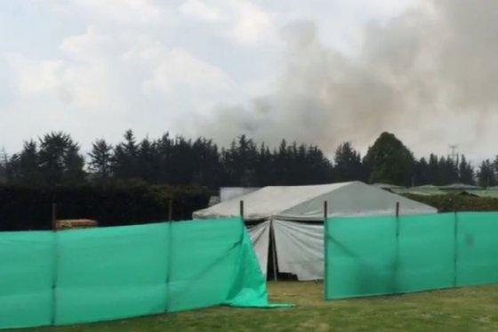 Incendio Forestal, foto vía Twitter @pipeconde
