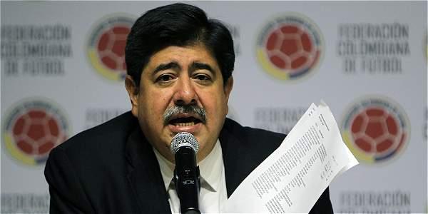 Luis Bedoya, expresidente de la Federación Colombiana de Fútbol, foto vía El Tiempo