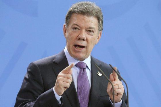 Presidente Juan Manuel Santos, foto vía EFE