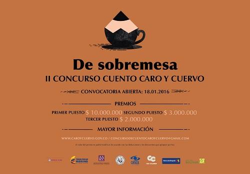 afiche II CONCURSO DE CUENTO ICC