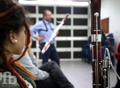 Alumnos, foto vía Orquesta Filarmonica de Bogotá