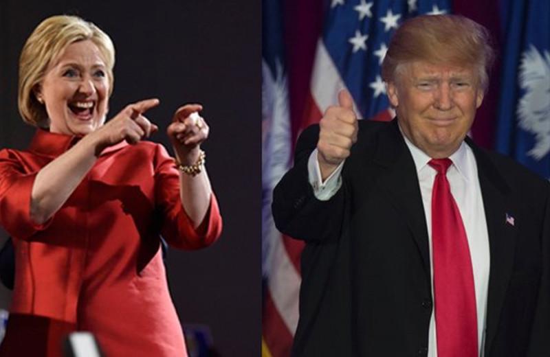 Donald Trump y Hilary Clinton, foto vía EFE