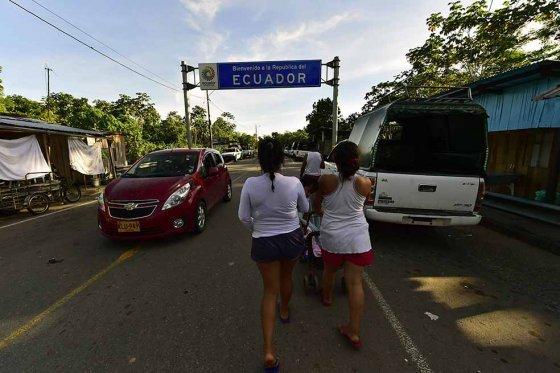 Frontera Ecuador Colombia, foto vía El Espectador