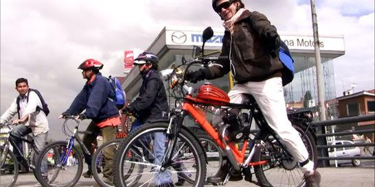 Bicicletas motorizadas, foto vía El Tiempo