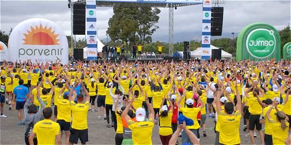 La Media Maratón de Bogotá espera recibir a más de 44.000 atletas, foto vía El Tiempo