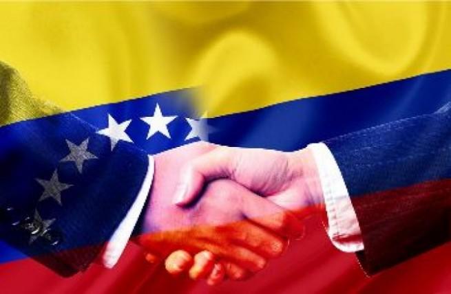Colombia-Venezuela-banderas, foto vía web Mundo24