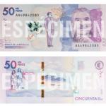 Comenzó a circular en el país nuevo billete de $50.000