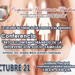 Conferencia - Retos contemporáneos de la intervención socio familiar