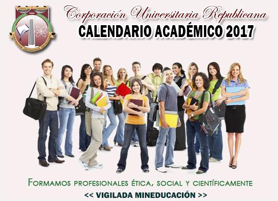 calendario academico 2017 mini
