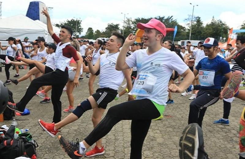 Aerobicos, foto vía web Alcaldía de Bogotá