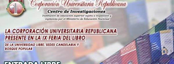 La Corporación Universitaria Republicana en la IX Feria del Libro de la U. Libre
