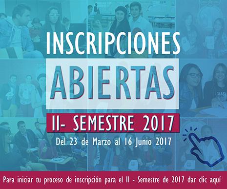 INSCRIPCIONES ABIERTAS II - 2017