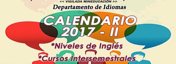 Conozca las fechas de inicio e inscripción de los niveles de inglés y del Departamento de Idiomas