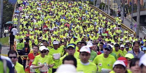 Media Maratón de Bogotá, foto vía web El Tiempo