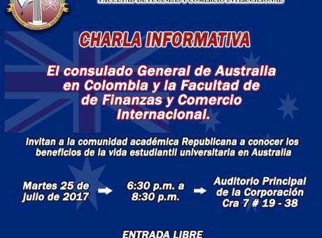Invitación académica charla Australia