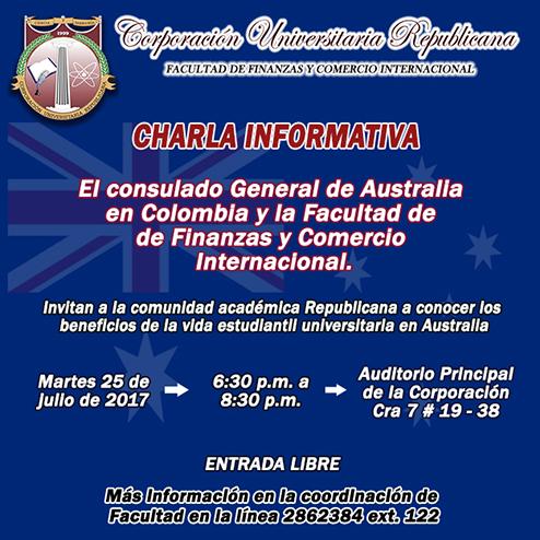 Invitación académica charla Australia mini