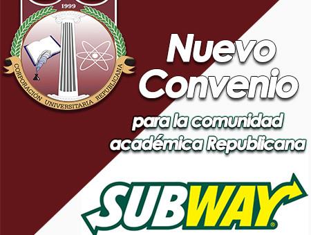 Nuevo convenio Subway mini