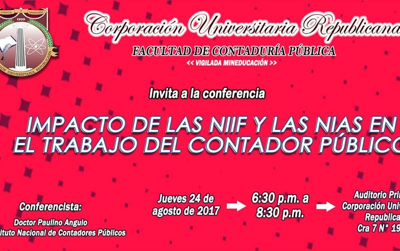 Conferencia Impacto de las NIIF y las NIAS