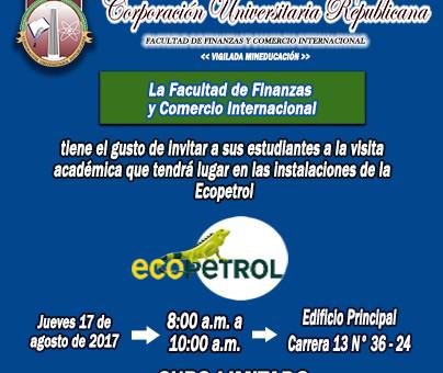 Invitación académica Ecopetrol mini