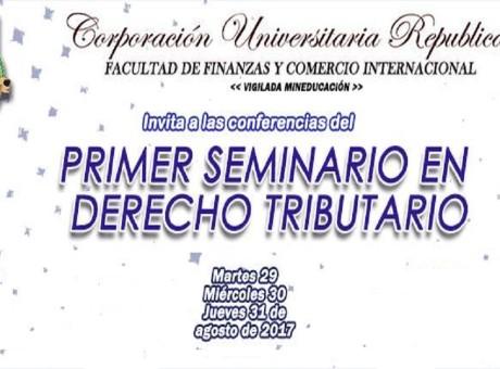 En vídeo las 3 sesiones del Primer Seminario de Derecho Tributario