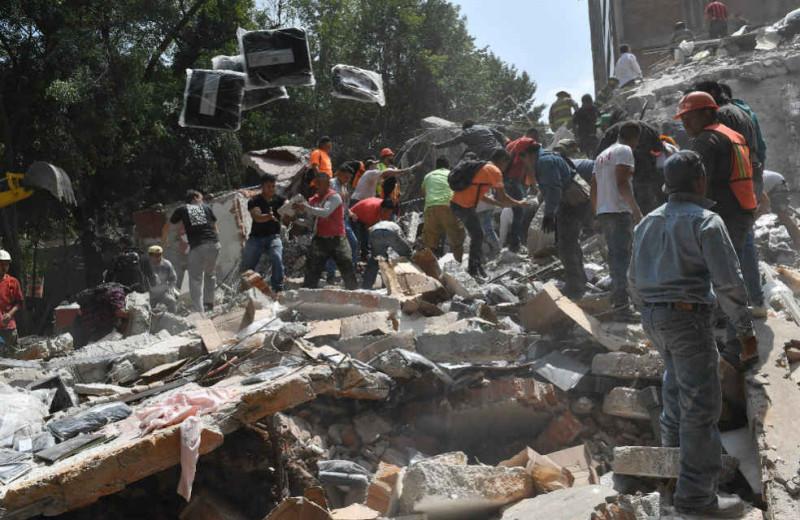 Sismo México, foto vía AFP