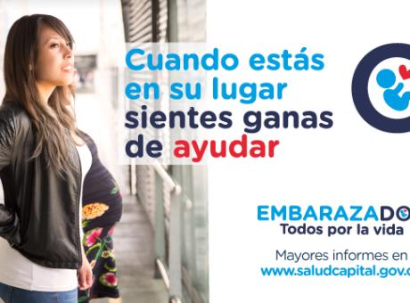 """""""Embarazados, todos por la vida"""", una campaña para dar prioridad a mujeres embarazadas en Bogotá"""