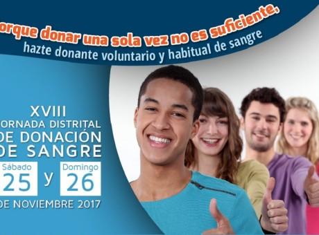 Jornada Distrital de Donación de Sangre en Bogotá Noviembre 2017