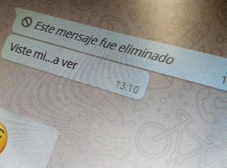 Mensaje Eliminado Whatsapp, foto vía Forber México Radio Universitaria URepublicanaRadio