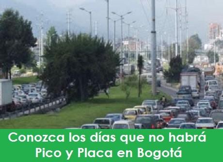 Conozca los días que no habrá el Pico y Placa en Bogotá radio universitaria urepublicanaradio picoyplaca-foto-vía-web-colcarros