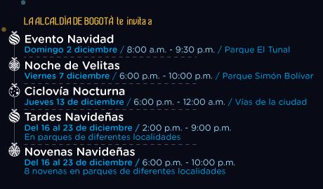Eventos navidad 2018 - Conozca los puntos para recorrer la Ruta de la Navidad 2018 en Bogotá