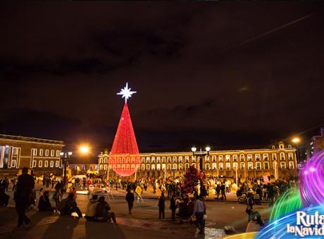 navidad caminata centro Bogotá