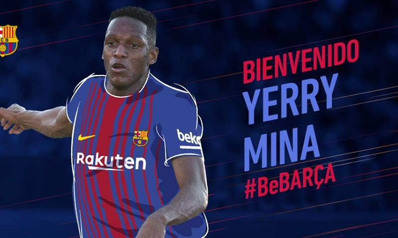 Yerry Mina Barcelona Primer Colombiano