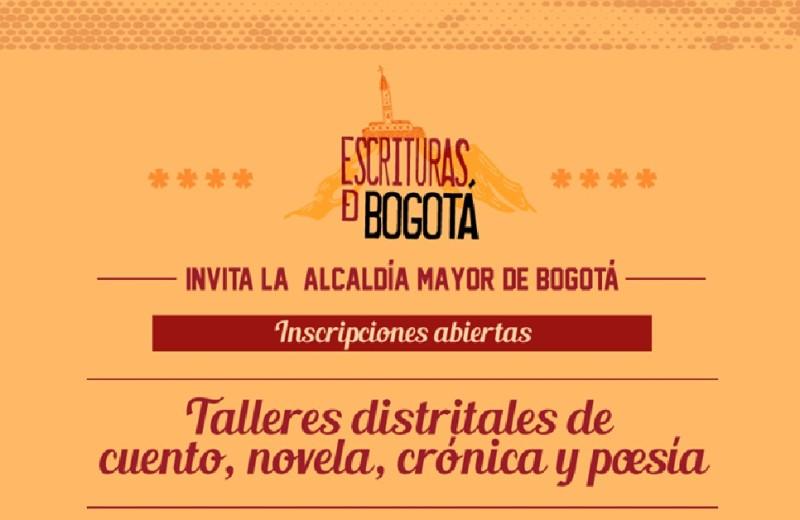 talleres gratuitos de cuento novela crónica y poesía en Bogotá IDARTES enero 2018