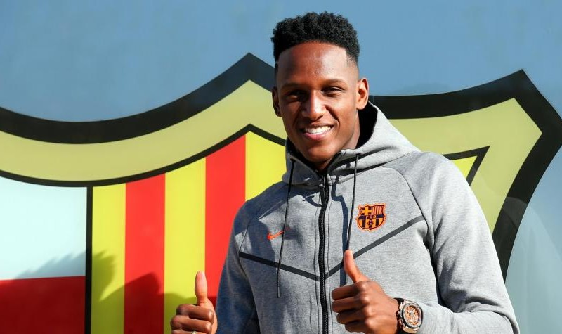 Yerry Mina Barcelona 2018 Debut