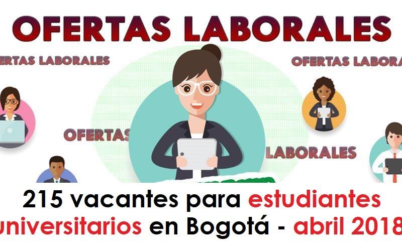 215 vacantes para estudiantes universitarios en Bogotá - abril 2018 radio universitaria urepublicanaradio