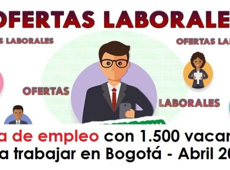 Feria de empleo con 1.500 vacantes para trabajar en Bogotá - Abril 2018 radio universitaria urepublicanaradio