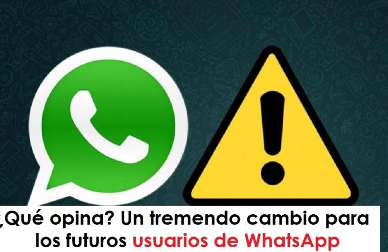 Qué opina Un tremendo cambio para los futuros usuarios de WhatsApp whatsapp, cadenas, foto vía web La Voz del Muro radio universitaria urepublicanaradio