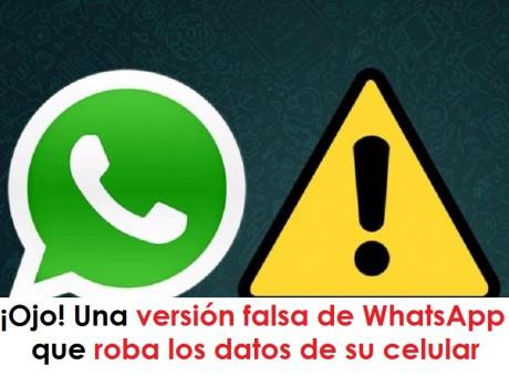 whatsapp datos Una versión falsa de WhatsApp que roba los datos de su celular radio universitaria urepublicanaradio, foto vía web La Voz del Muro