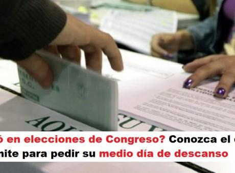 Votó en elecciones de Congreso Conozca el día límite para pedir su medio día de descanso radio universitaria urepublicanaradio