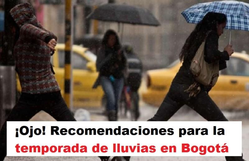 recomendaciones temporada de lluvias Recomendaciones para la temporada de lluvias en Bogotá, foto vía Diario ADN - Radio Universitaria URepublicanaRadio